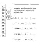 Adding Tens on a Hundreds Chart