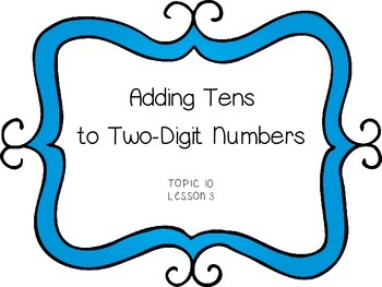 Adding Tens to Two-Digit Numbers - First Grade enVision Math