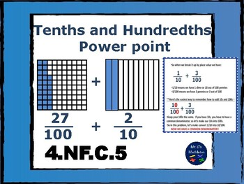 Adding Tenths and Hundredths Power point