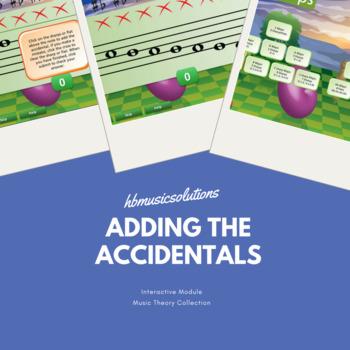 Adding The Accidentals - Major Keys, Treble Clef Interactive Module.