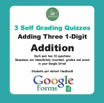 Adding Three 1-Digit Addition - Quiz with Google Forms