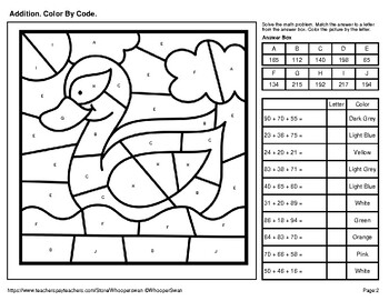 2 Digit Addition with and without Regrouping Coloring Sheets for ... | 271x350