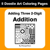 Adding Three 2-Digit Addition - Coloring Pages | Doodle Art Math