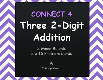Adding Three 2-Digit Addition - Connect 4 Game