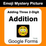 Adding Three 2-Digit Addition - EMOJI Mystery Picture - Google Forms