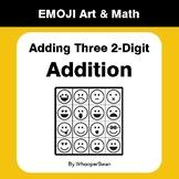 Adding Three 2-Digit Addition - Emoji Math & Art - Draw by
