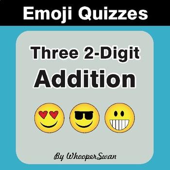 Three 2-Digit Addition Emoji Quiz