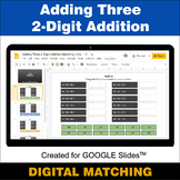 Adding Three 2-Digit Addition - Google Slides - Distance L