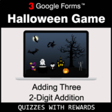 Adding Three 2-Digit Addition   Halloween Decoration Game