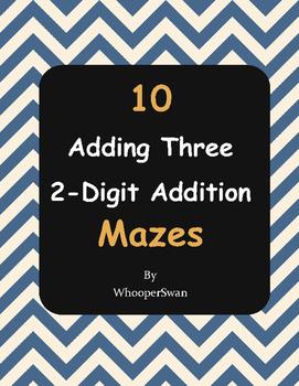 Adding Three 2-Digit Addition Maze