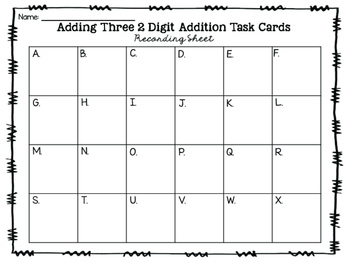 Adding Three 2-Digit Addition Task Cards {Digital}