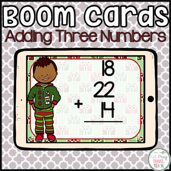 Adding Three Digit Numbers Boom Cards