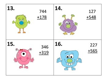 Adding Three Digit Numbers With and Without Regrouping