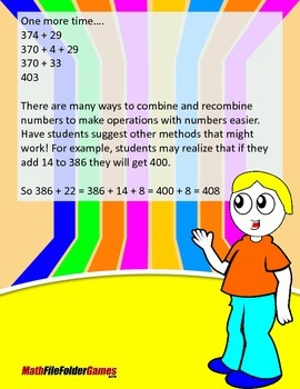 Adding Three-Digit Numbers and Two-Digit Numbers {Mental Math Activity}