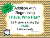 Adding Three Digit Numbers with Regrouping--I Have, Who Has? Game