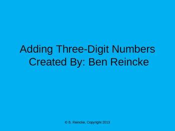 Adding Three-Digit TurningPoint Clicker Presentation