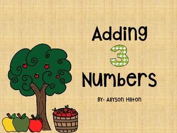 Apples!! Adding Three Numbers !