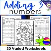 Adding Three Numbers (Add 3 Numbers) Worksheets / Printabl