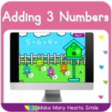 Adding Three Numbers Distance Learning Game MHS110