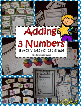 1.OA.2 Three Addends: 8 Activities
