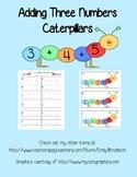 Adding Three Numbers Caterpillars