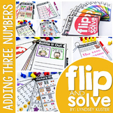 Adding Three Numbers - Flip and Solve Books