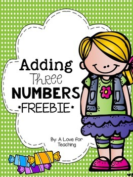 Adding Three Numbers {Freebie}