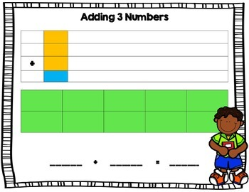 Adding Three Numbers Manipulative Mat
