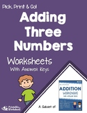 Adding Three Numbers Practice Worksheets