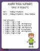 3 Addends Worksheet, Three Number Addition Center Sheets