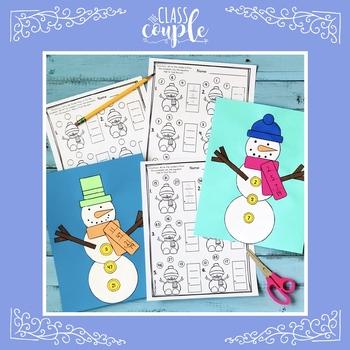 Adding Three Numbers Snowman Craftivity