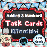 Winter Math Activities | Adding 3 Numbers First Grade