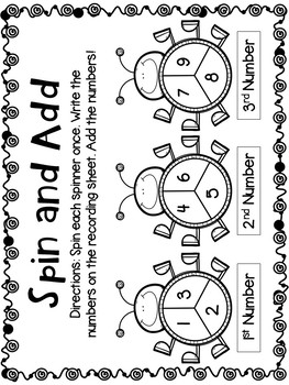 Adding Three Numbers (Worksheets & Centers)