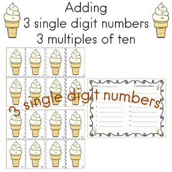 Addition   Adding Three Numbers and Adding Multiples of Ten   Two Math Centers