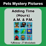 Adding Time (Hours) A.M. & P.M - Pets Color By Number
