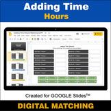 Adding Time (Hours) - Google Slides - Distance Learning -