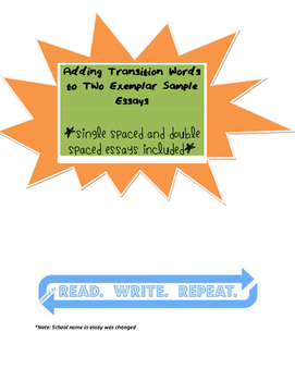 Adding Transition Words Practice