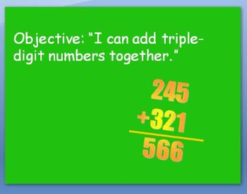 Adding Triple Digit Numbers w/out Regrouping