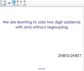 Adding Two Digit Numbers Using Place Value Smartboard - 2NBT5