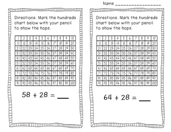Adding Two Digit Numbers On A Hundreds Chart
