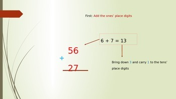 Adding Two Digit Numbers - PowerPoint Presentation