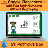 Add Two Digit Numbers No Regrouping St. Patrick's Day Kids