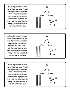 Adding Two Digit Numbers Without Regrouping Student Booklet