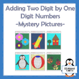 Adding Two Digit by One Digit Whole Numbers Puzzle Worksheets