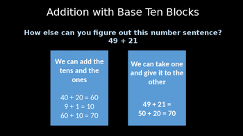 Adding Two Digit by Two Digit Using Base Ten Models