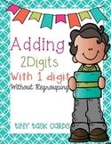 Adding Two Digits with One Digit without Regrouping