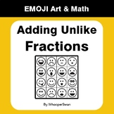 Adding Unlike Fractions - Emoji Art & Math - Draw by Number | Coloring Pages