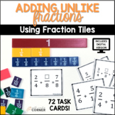 Adding Unlike Fractions with Fraction Tiles, Print and Digital