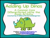 Adding Up Dinos-Common Core Differentiated Write the Room Fun