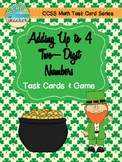 Adding Up to 4 Two-Digit Numbers Task Cards & Game (March Themed)